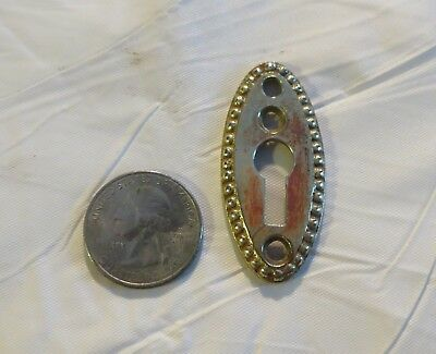 Antique Brass Mortise Door Keyhole Lock Escutcheon Plate skeleton key Ornate