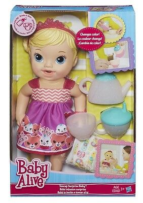 Baby Alive Teacup Surprise Baby Doll, Blonde Hair