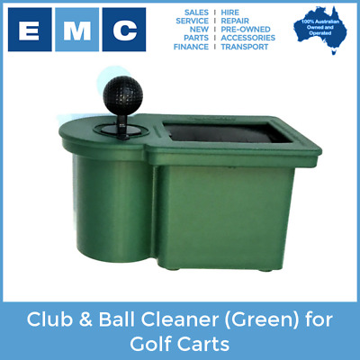 Club & Ball Cleaner (Green) for Golf Carts - Genuine Club Clean