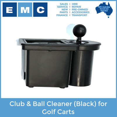 Club & Ball Cleaner (Black) for Golf Carts - Genuine ClubClean