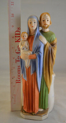 Vintage Holy Family Planter - Mary, Joseph, and Baby Jesus