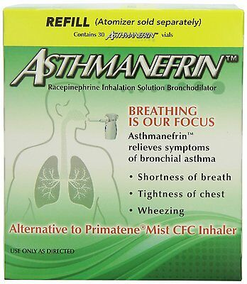 Asthmanefrin Medication Refill, 30 Count Box -Exp. Date 07-2020