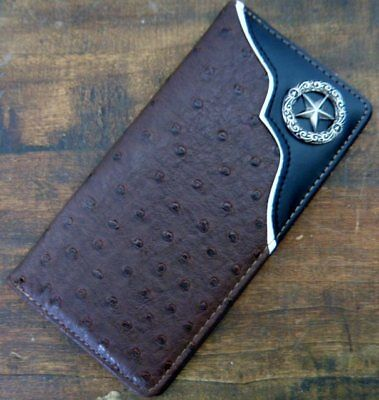 Mens Leather Star Wallet
