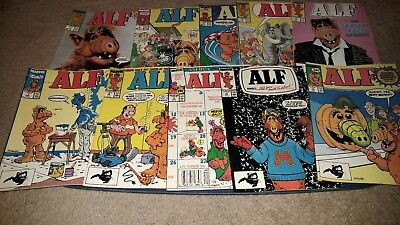 Lot of 14 Alf comics, Marvel. Fine and Vg
