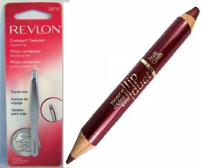 Revlon Compact Tweezer Square tip 32710 NEW IN PACKAGE + FREE GIFT!!!