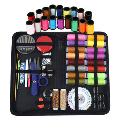 136pcs Mini Beginner Sewing Kit Case Supplies Adults Kids Home Travel Campers US