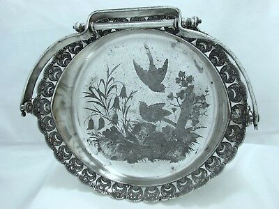 1880 Victorian Eastlake Sparrow Nest Wilcox Silver Plate Co.  Cake Pastry Server