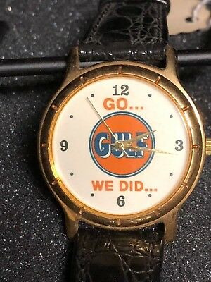 "Vintage Gulf Oil ""Go Gulf, We Did..."" Wrist Watch by Image Watches, Incorporated"