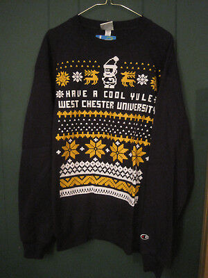 West Chester University Yule Sweatshirt-Large-New with Tags