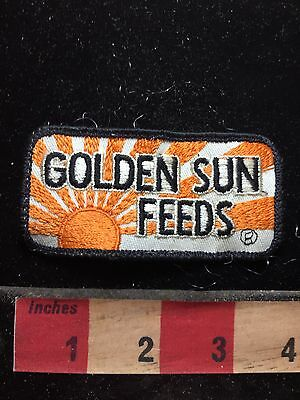 Vtg GOLDEN SUN FEEDS Farm / Ag Theme Patch 76U8