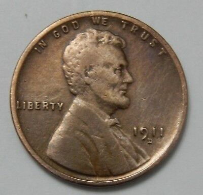 1911-D Lincoln Wheat Cent ~ VF+ Details ~  1¢ Coin