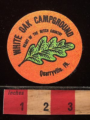 Quarryville White Oak Campground CHEAPLY MADE NOT CLOTH Pennsylvania Patch 69WE