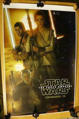 D23 Expo 2015 STAR WARS FORCE AWAKENS STRUZAN POSTER 27x40 Gallery 1988 HP RARE!