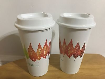 Starbucks Reusable Fall Leaves Coffee Cup SOLD OUT 2017 16oz Thanksgiving