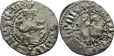 A77 Medieval:Crusaders :Cilician Armenia Levon I 1198-1219 silver hammered coin
