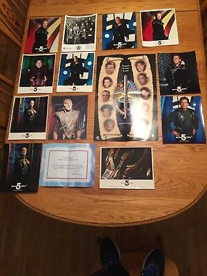 babylon 5 Fan Club Kit 1995-98 with glossy photo's 14 pieces and Autograph g'kar