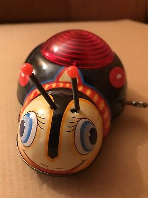 Vintage Kanto Toys Mechanical Twinkling Bug Wind-Up 1950's Lithograph Japan