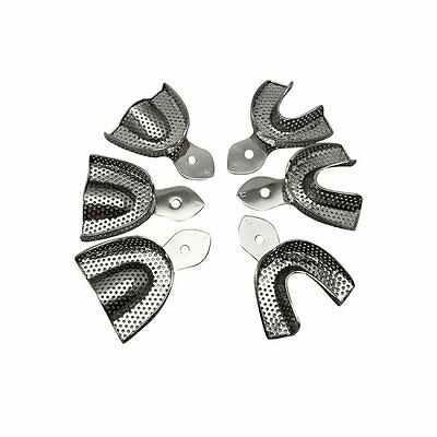 6pcs Dental Stainless Steel Anterior Impression Trays Material Stainless New