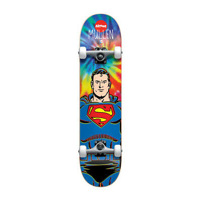 "Almost Skateboards Complete Superman Tie Dye 7.75"" Mullan Marvel Skateboard Deck"