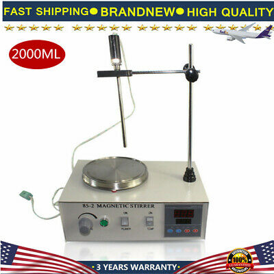 US 85-2 Magnetic Stirrer 2000ml with Hot Plate Digital Heating Lab Mixer 2400RPM
