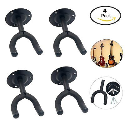 Brand New!!! 4-Pack Guitar Hangers Hooks Holders Wall Mount, nice and cool