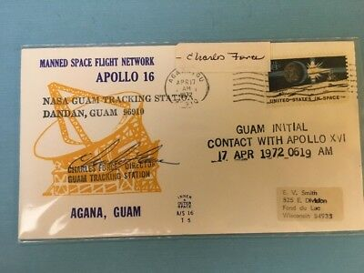Collectible Postal Cover Autographed Apollo 16 Charles Force Apollo 16