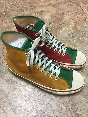 vintage vans made in usa vintage canvas shoes size 9 mens.