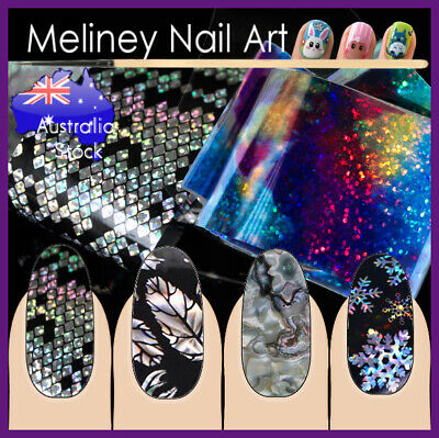 Nail Art Foils Transfer Holographic Foil sticker Decoration Decal wrap Snowflake