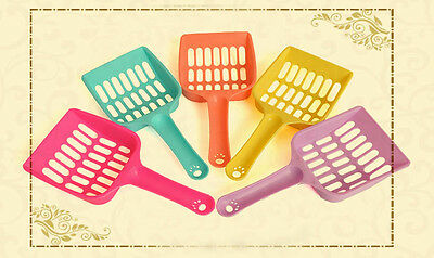 Plastic Litter Scoop Pet Cat Kitten Sand Waste Scooper Shovel Cleaning Tool Tray