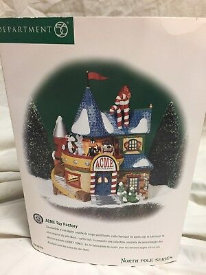 """Department 56 North Pole Series """"Acme Toy Factory"""" EUC"""