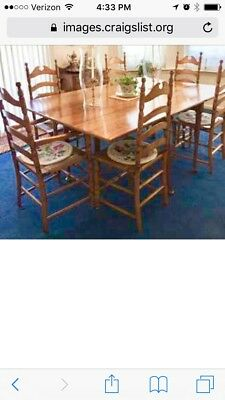 Link Taylor Country Maple Dining Set, Circa-early 1960's