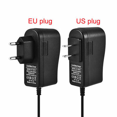 12.6V 1A Power Supply Wall Home Charger Adapter For Lithium Battery EU/US Plug