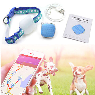 Mini Waterproof Dog GPS Tracker Alarm Locator Tracking Finder Pet Cat Collar HE7