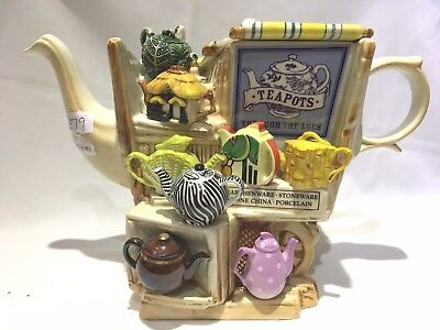 Paul Cardew  Teapot through the ages  market stall limited edition