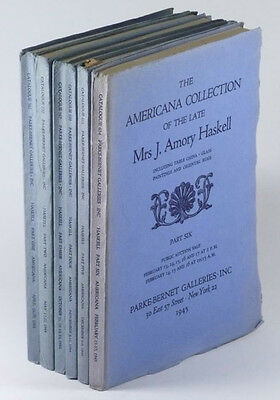 Haskell Collection - American Furniture & Antiques -6 volume Set 1944 Catalogs