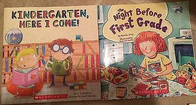 Kindergarten Here I Come & The Night Before First Grade, Lot Of 2, EUC