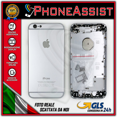 TELAIO SCOCCA POSTERIORE iPhone 6 BACK COVER MIDDLE Argento Bianco Silver