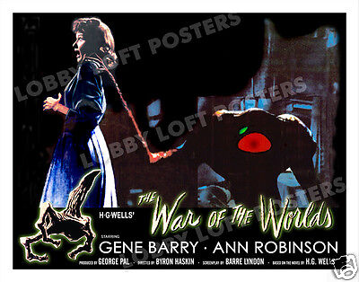 The War Of The Worlds Lobby Scene Card # 9-A  Poster 1953 Ann Robinson