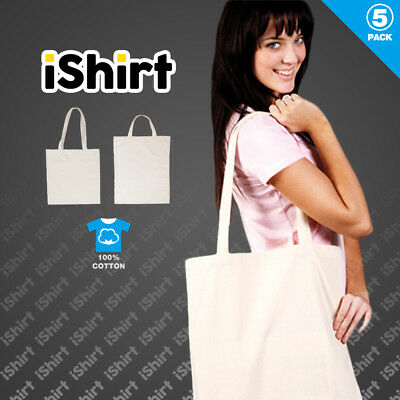 Blank Calico Bags Natural Colour With Short And Long Handle Bulk 5, 10, 20