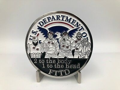 Challenge Coin: 2 TO THE BODY CBP BORDER PATROL HSI ICE TACTICAL POLICE