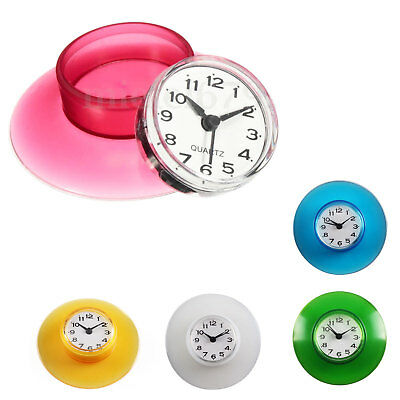 Waterproof Shower Clock Bathroom Kitchen Suction Home Clock Wall Timer 3.39 UK