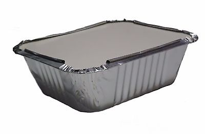 1000X Aluminium Foil No2a Food Containers With Lids Best For Home And Take Away
