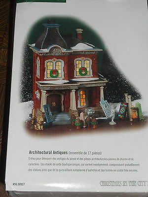 "Department 56 Christmas In The City ""ARCHITECTURAL ANTIQUES"" 58927 Retired"