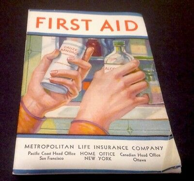 Vintage Metropolitan Life Insurance Company First Aid Booklet