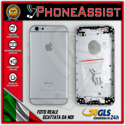 TELAIO SCOCCA POSTERIORE iPhone 6S BACK COVER MIDDLE Argento Bianco Silver