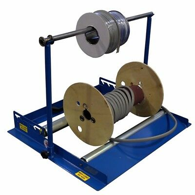 Heavy Duty Steel 2-In-1 Floor & Stand Cable Reel Spooler with 80Kg Capacity