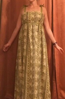 Vintage Green Maxi Dress From The 1970S Women's Size Small