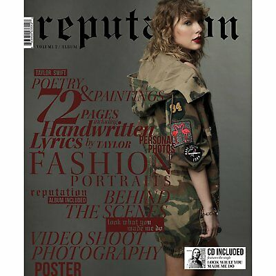 Taylor Swift - reputation (CD + Exclusive Magazine Vol 2) Brand New Factory Seal