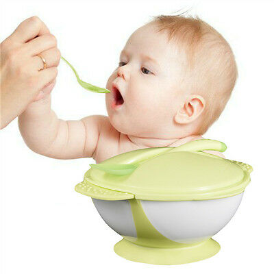 Baby Suction Cup Bowl Slip-resistant Tableware Temperature Sensing Spoon Set