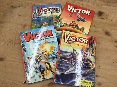 Set 4 Old Vintage Victor Annual Book For Boys Comics 1966 75 88